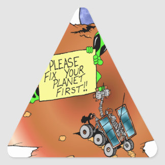 Alien Eviction Triangle Sticker