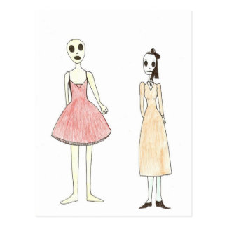Alien Exposed as a Drag Queen Postcard