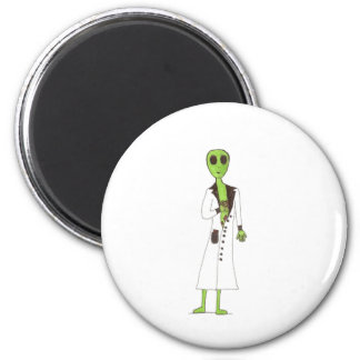 Alien Exposed Stealing Candy 2 Inch Round Magnet