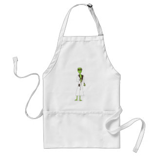 Alien Exposed Stealing Candy Adult Apron