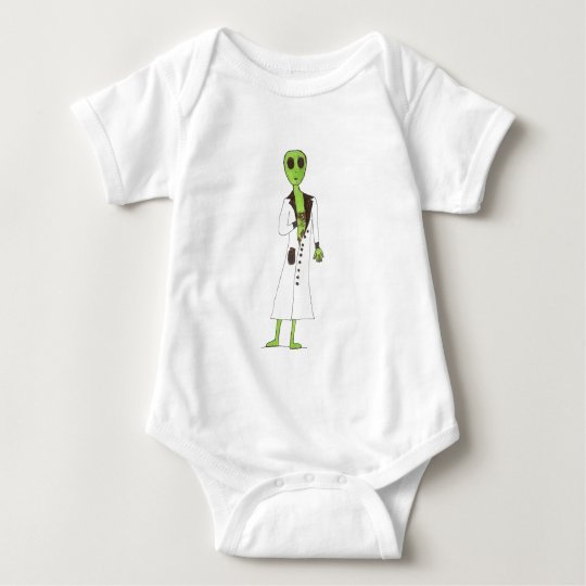 Alien Exposed Stealing Candy Baby Bodysuit