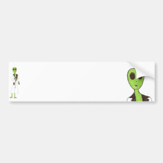 Alien Exposed Stealing Candy Bumper Sticker