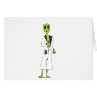 Alien Exposed Stealing Candy Card