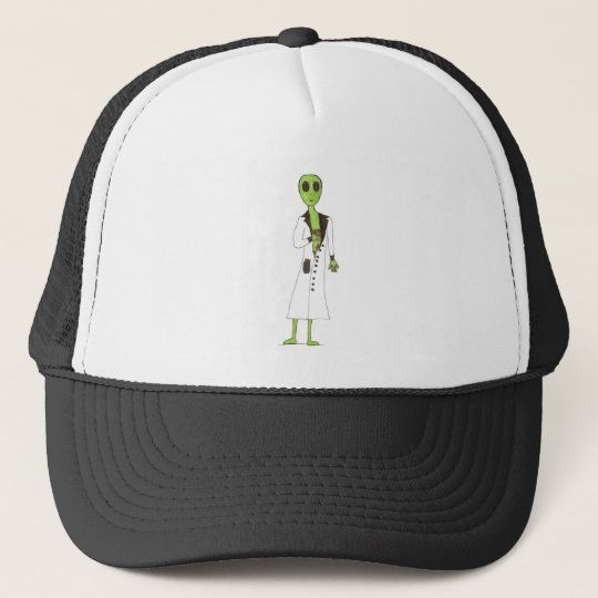 Alien Exposed Stealing Candy Trucker Hat