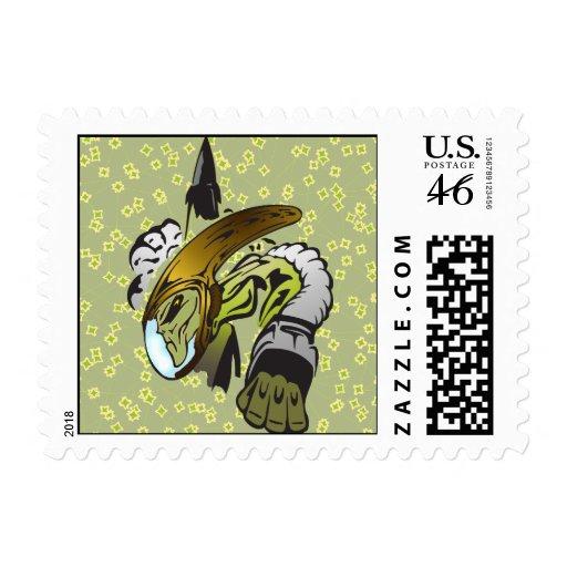 Alien Extraterrestrial Life Stamps