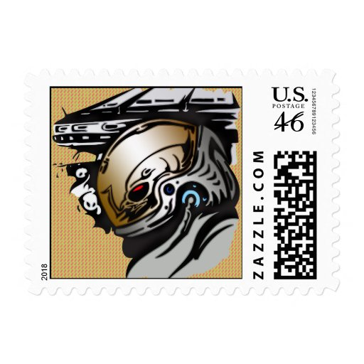 Alien Extraterrestrial Races Postage Stamp