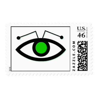 Alien Eye Postage Stamp