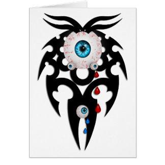 Alien Eyes Greeting Card