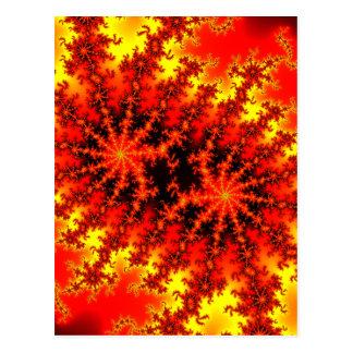 Alien Eyes fractal Postcard