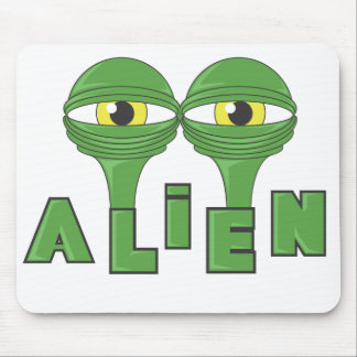 Alien Eyes Mouse Pad