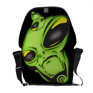 Alien Eyes Rickshaw Messenger Bag