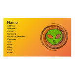 ALIEN FACE Double-Sided STANDARD BUSINESS CARDS (Pack OF 100)