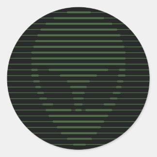 Alien face classic round sticker