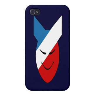 Alien Face Happy Bomb Speck Case Covers For iPhone 4