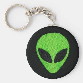 Alien face keychain