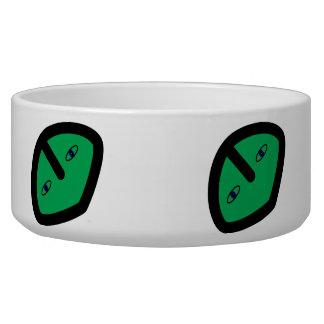 Alien Face on Green Bowl