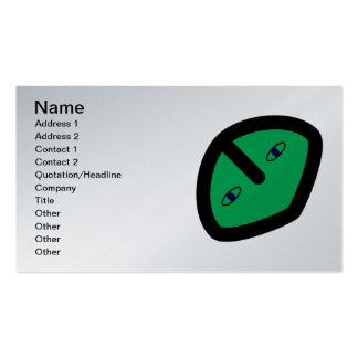 Alien Face on Green Business Card