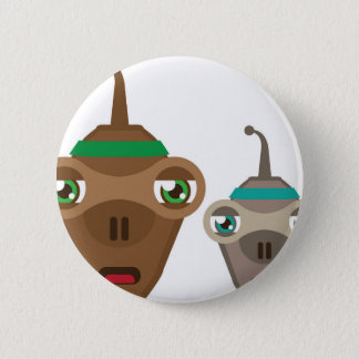 Alien Face Pinback Button