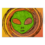 ALIEN FACE STATIONERY NOTE CARD