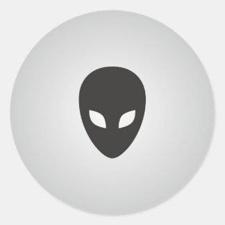 Alien Face Round Stickers