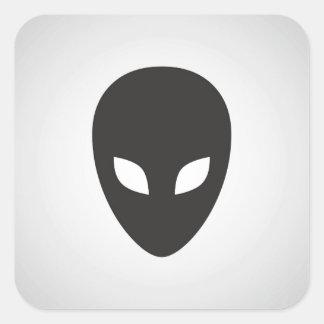 Alien Face Square Stickers