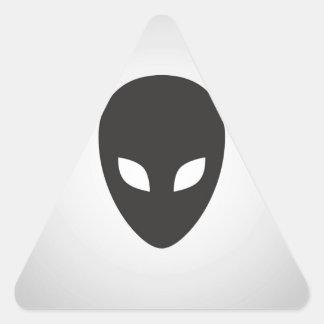 Alien Face Triangle Stickers