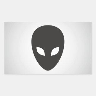 Alien Face Rectangular Sticker