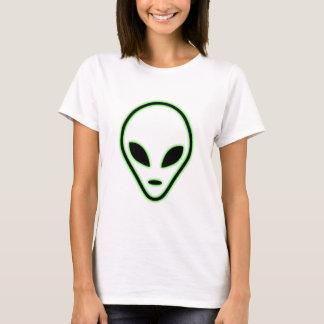 Alien face womens t shirt