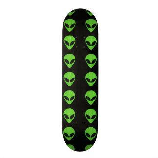 Alien Faces- Green Skateboard