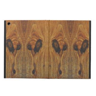 Alien Faces Wood Grain Case For iPad Air