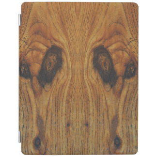Alien Faces Wood Grain iPad Smart Cover