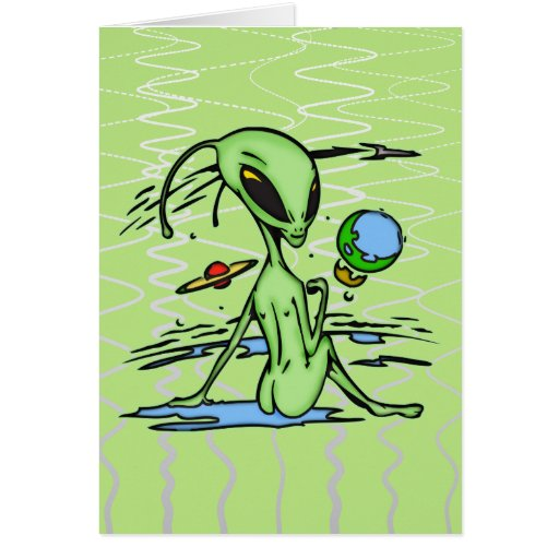 Alien Female Greeting Card