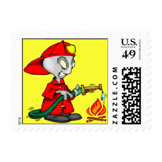 Alien Firefighter Postage