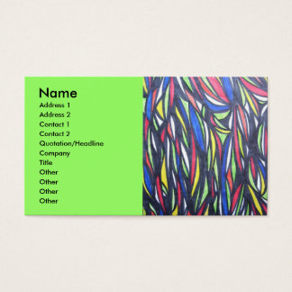 Alien Fish Migrating Business Card