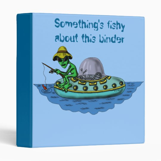 Alien fishermen funny binder design