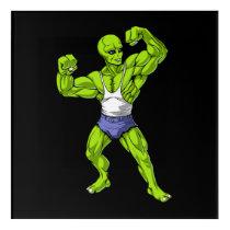 Alien Fitness Workout Acrylic Print
