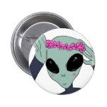 alien flower crown button