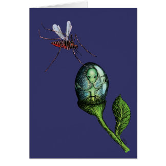 Alien Flower Pod Card