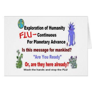 Alien Flu Mystery Message Card