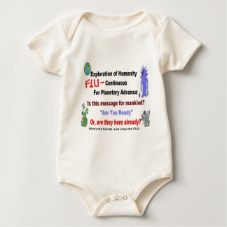 Alien Flu Mystery Message.JPG Baby Bodysuit