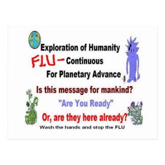 Alien Flu Mystery Message Postcard