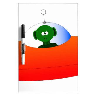 Alien Flying Saucer Dry-Erase Board