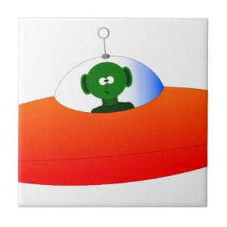 Alien Flying Saucer Tile