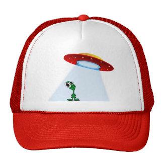Alien & Flying Saucer Trucker Hat