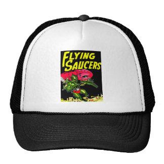Alien Flying Saucers Vintage Comic Book Art Hat