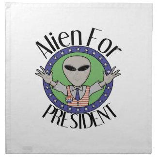 Alien For President Cloth Napkins