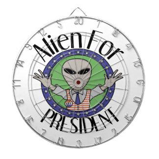 Alien For President Dart Board