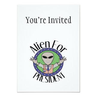 Alien For President 5x7 Paper Invitation Card