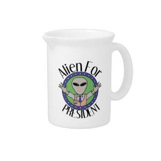 Alien For President Beverage Pitchers