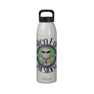 Alien For President Reusable Water Bottle